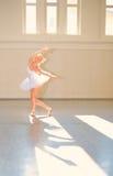 Bailado da jovem mulher Imagem de Stock