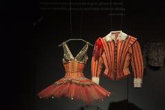 Bailado e exposição da paixão no museu de artes e de ofícios em Zagreb, Croácia Fotografia de Stock