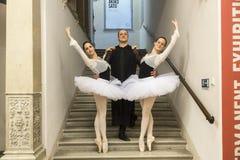 Bailado e exposição da paixão no museu de artes e de ofícios em Zagreb, Croácia Fotografia de Stock Royalty Free