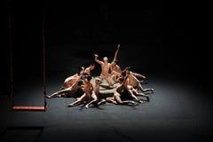 Bailado esforço-moderno do desejo: Trollius chinensis Imagem de Stock