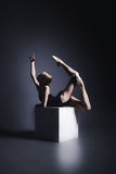 Bailado na obscuridade Foto de Stock Royalty Free