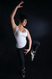 Bailado praticando da menina Foto de Stock Royalty Free
