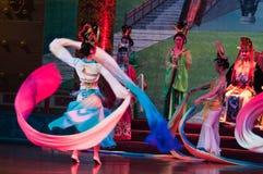 Bailado tradicional chinês Fotografia de Stock