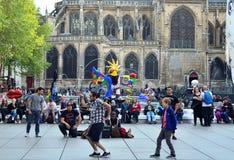 Bailando en la fuente, París Foto de archivo