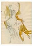 Bailarín 4 de la bailarina Imágenes de archivo libres de regalías