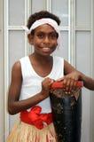 Bailarín aborigen de la muchacha Fotografía de archivo