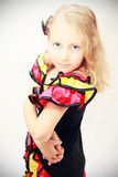 Bailarín adolescente de la muchacha Fotografía de archivo