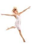 Bailarín adolescente de la muchacha aislado en blanco Imágenes de archivo libres de regalías