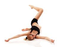 Bailarín adolescente de la muchacha en el fondo blanco Foto de archivo libre de regalías