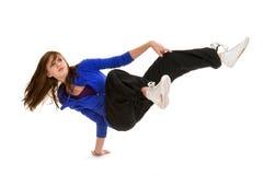Bailarín adolescente deportivo de la rotura en la acción Imágenes de archivo libres de regalías