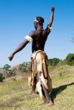 Bailarín africano del Zulú foto de archivo libre de regalías