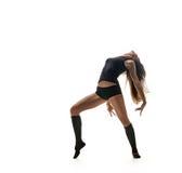Bailarín atractivo Silueta del baile Imágenes de archivo libres de regalías