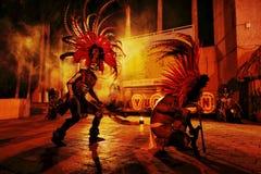 Bailarín azteca Imagenes de archivo