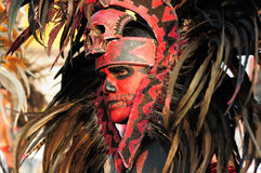 Bailarín azteca en México Imágenes de archivo libres de regalías