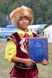 Bailarín bashkir Prix magnífico Competencia Bayyk Fotos de archivo libres de regalías