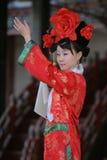 Bailarín chino de sexo femenino Imágenes de archivo libres de regalías