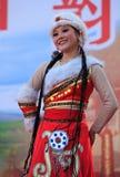 Bailarín chino hermoso Fotografía de archivo