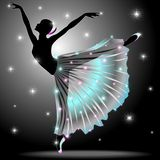 Bailarín clásico agraciado Performance de la bailarina ilustración del vector
