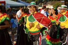Bailarín colombiano en traje tradicional Foto de archivo