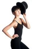 Bailarín con el sombrero de copa Fotos de archivo libres de regalías