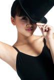 Bailarín con el sombrero superior Imagenes de archivo