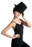 Bailarín con el sombrero superior Fotos de archivo