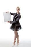 Bailarín con la muestra de la exhibición Foto de archivo