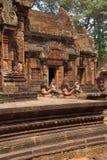 Bailarín de Apsara en las paredes Banteay Srei Fotos de archivo libres de regalías