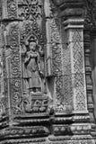 Bailarín de Apsara en las paredes Banteay Srei Fotografía de archivo libre de regalías