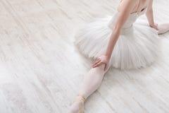 Bailarín de ballet clásico en la cosecha de la fractura, visión superior Foto de archivo libre de regalías