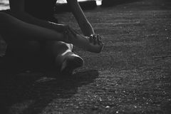 Bailarín de ballet Dance Art Jump Sneaker imágenes de archivo libres de regalías