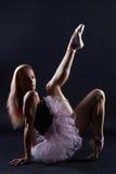 Bailarín de ballet de sexo femenino hermoso Muchacha de la bailarina Foto de archivo