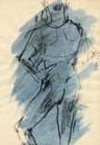 Bailarín de ballet, drenando 6 ilustración del vector