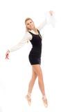 Bailarín de ballet en la imagen de una mujer de negocios Imagen de archivo libre de regalías