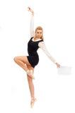Bailarín de ballet en la imagen de una mujer de negocios Fotos de archivo libres de regalías