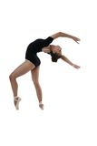 Bailarín de ballet joven que presenta en la posición agraciada Imagen de archivo libre de regalías