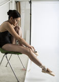 Bailarín de ballet y gimnasta Imagenes de archivo