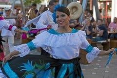 Bailarín de Colombia en el traje tradicional 1 Fotos de archivo libres de regalías