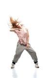 Bailarín de hip-hop de la muchacha Imagen de archivo