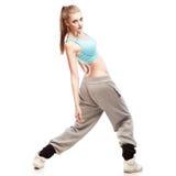 Bailarín de hip-hop de la muchacha Imágenes de archivo libres de regalías