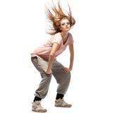 Bailarín de hip-hop de la muchacha Fotografía de archivo