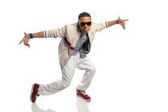 Bailarín de Hip Hop del afroamericano Imagen de archivo libre de regalías