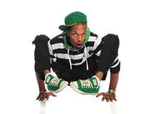 Bailarín de Hip Hop que balancea en las manos Fotos de archivo libres de regalías