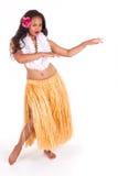 Bailarín de Hula con movimiento típico de la danza Foto de archivo libre de regalías