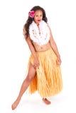 Bailarín de Hula que muestra la pierna Fotografía de archivo