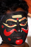 Bailarín de Kathakali Imagenes de archivo