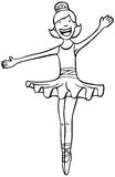 Bailarín de la bailarina - blanco y negro Imagenes de archivo