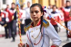 Bailarín de la banda militar de la escuela Foto de archivo libre de regalías