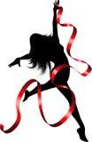 Bailarín de la cinta Foto de archivo libre de regalías