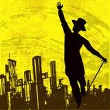 Bailarín de la ciudad stock de ilustración